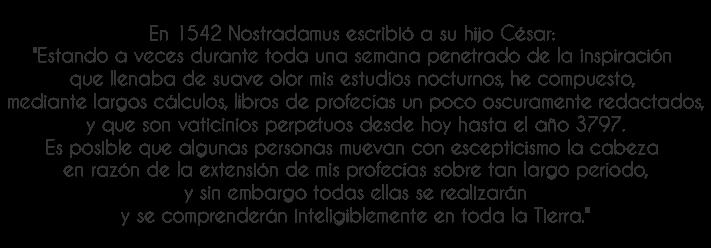 Nostradamus a su hijo Cesar