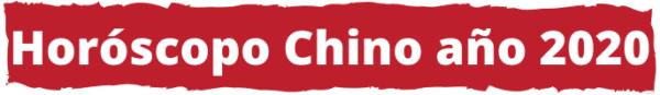 Año 2020 en el Horóscopo Chino