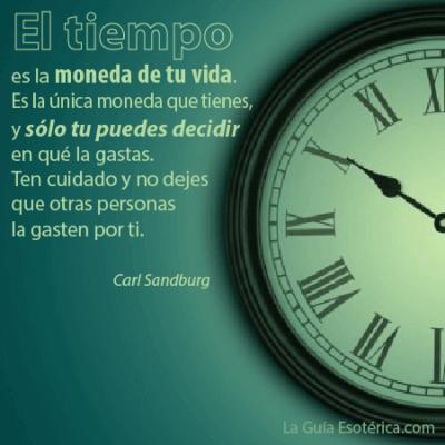 Frase sobre la importancia del tiempo
