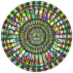 Mandala coloreado dificil