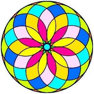 Mandala coloreado fácil