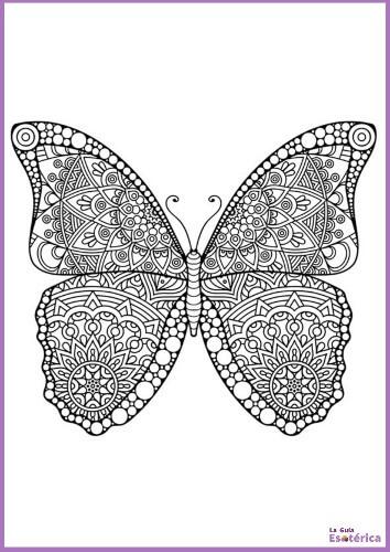 Mandala de mariposa para colorear
