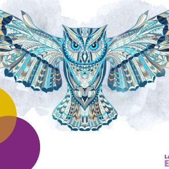Mandalas de animales para colorear. Búhos, mariposas, gatos.