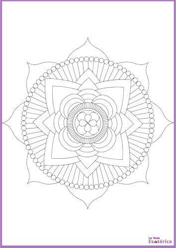 Colorear mandala flor de loto