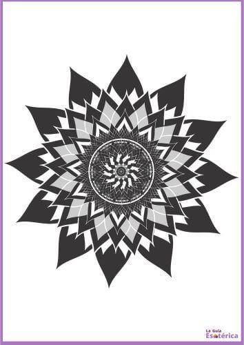 Flor de loto madnala oscuro