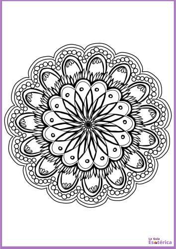 Flor de mandala para colorear 17