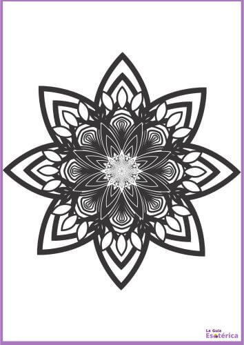 Flor de mandala para pintar 18