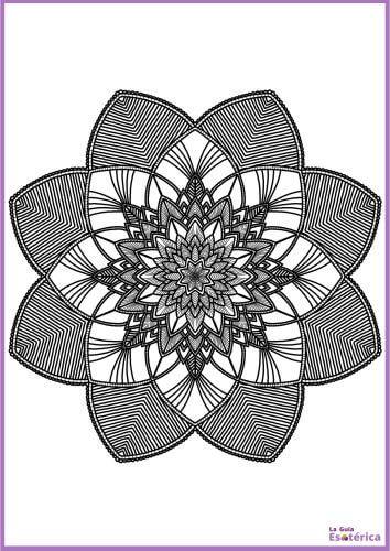 Flor oscuro de mandala 24