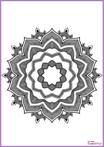 Mandala con flor 21