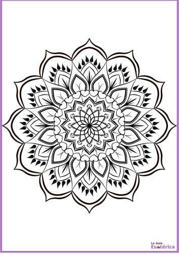 Mandala de flor para colorear 30
