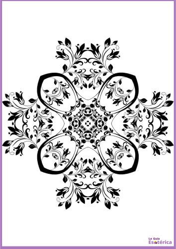 Mandala de flor para colorear 8