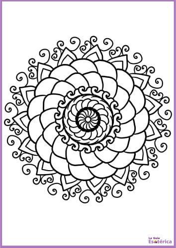 Mandala de flor para imprimir y colorear 25