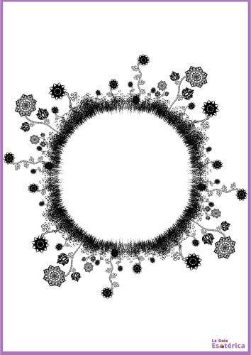 Mandala de flores 6
