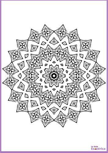 Mandala de flores circular 19