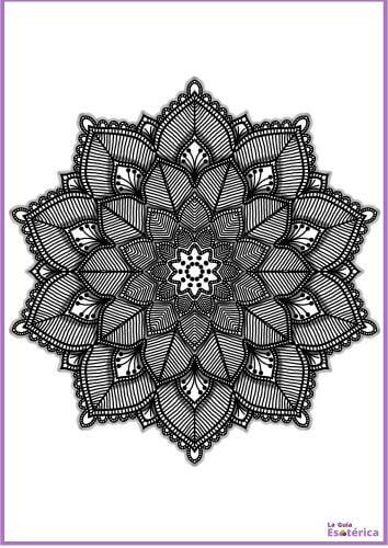 Mandala de flores oscuro 20