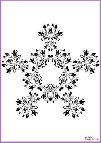 Mandala de flores para colorear 7