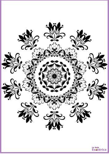 Mandala de flores para imprimir 10