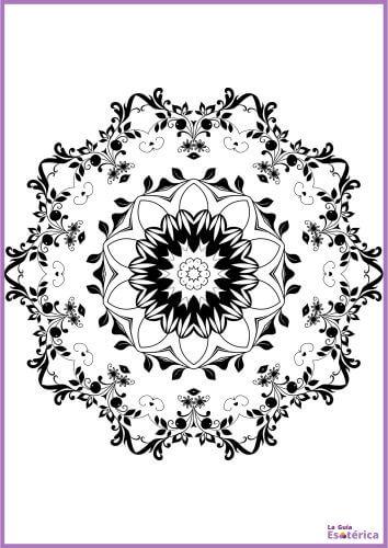 Mandala de flores para imprimir y colorear 11