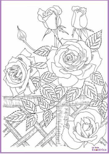 Mandala de rosas para pintar