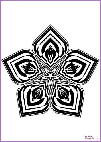 Mandala flor colorear 3