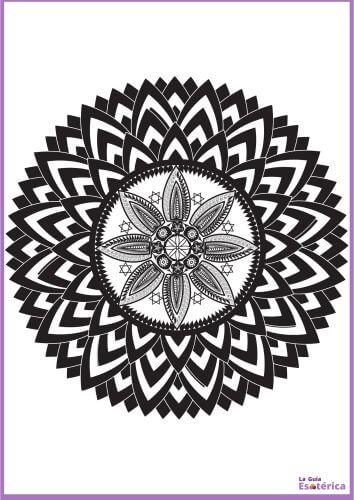 Mandala flor de loto oscuro para pintar