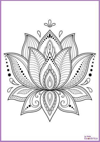 Mandala flor de loto para colorear