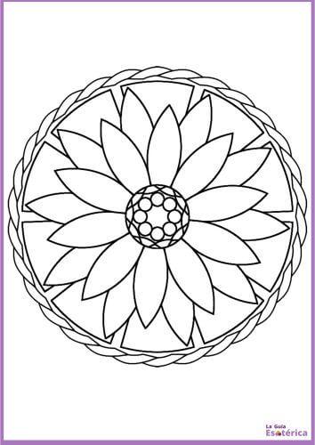 Mandala flor de loto para pintar