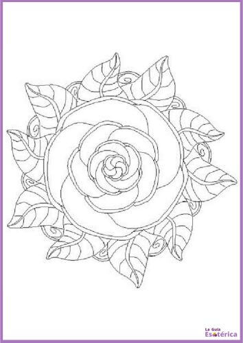 Mandala flor de rosa