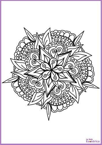 Mandala flor imprimir 4