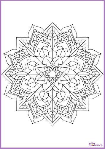 Mandala flor para imprimir 5