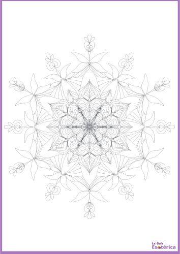 Mandala flor pétalos para colorear 28