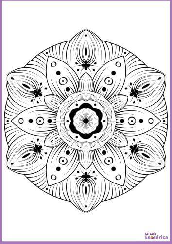 Mandala para colorear de flor 29