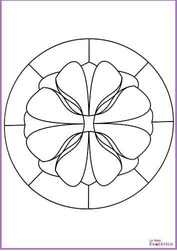 Mandala para niños fácil