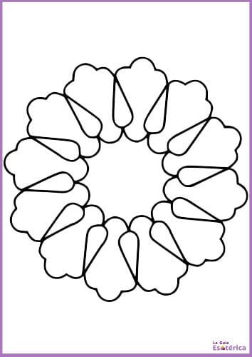 Mandala para niños flor fácil 2